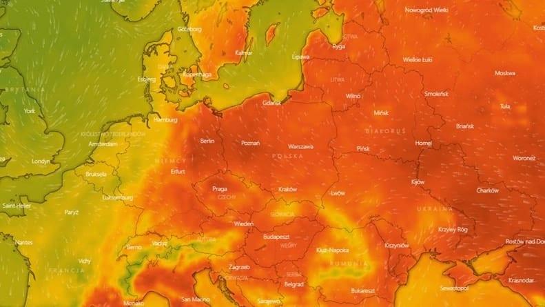 Gorący front atmosferyczny nad całą Polską – dzisiaj temperatura sięga blisko 40 stopni