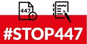 """#STOP447 złożone w Sejmie. Czekają na rejestracje. """"Wspólnie obronimy Polskę przed grabieżą organizacji żydowskich"""""""