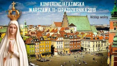 Rozpoczęła się Konferencja Fatimska w Warszawie, potrwa do 13 października