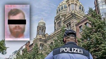 """Berlin: 23-letni Mohamed wtargnął w szabat do synagogi krzycząc """"Pie**lić Izrael"""""""
