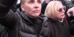 Scheuring-Wielgus kryje się za kordonem policji na Marszu Niepodległości [WIDEO]