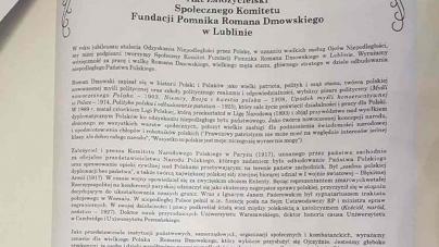 """W Lublinie będzie pomnik Romana Dmowskiego. Rada Miasta jest """"za"""""""