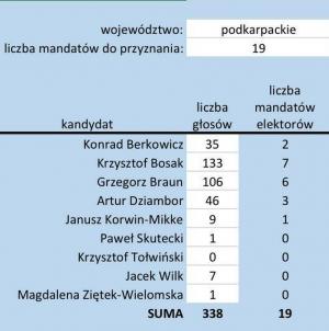 Krzysztof Bosak wygrywa na Podkarpaciu. Zaraz za nim Grzegorz Braun