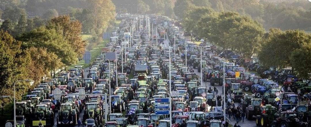 Rolnicy i robotnicy protestowali w Holandii