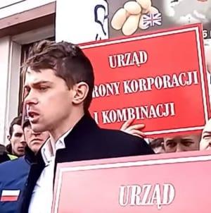 Sprzedają zagraniczne towary jako polskie. Protest Agrounii [WIDEO]