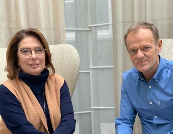 Donald Tusk oficjalnie popiera Małgorzatę Kidawę-Błońską
