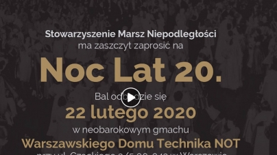 """Marsz Niepodległości zaprasza na bal karnawałowy """"Noc Lat 20."""" [SZCZEGÓŁY]"""