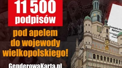 Gender uchwała w Poznaniu. Ponad 11,5 tys. podpisów do wojewody z apelem o jej uchylenie