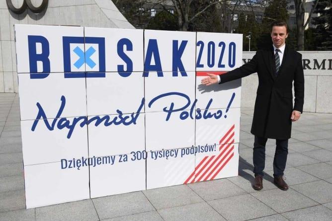 Konferencja Krzysztofa Bosaka. Zebrał aż 300 tysięcy podpisów!