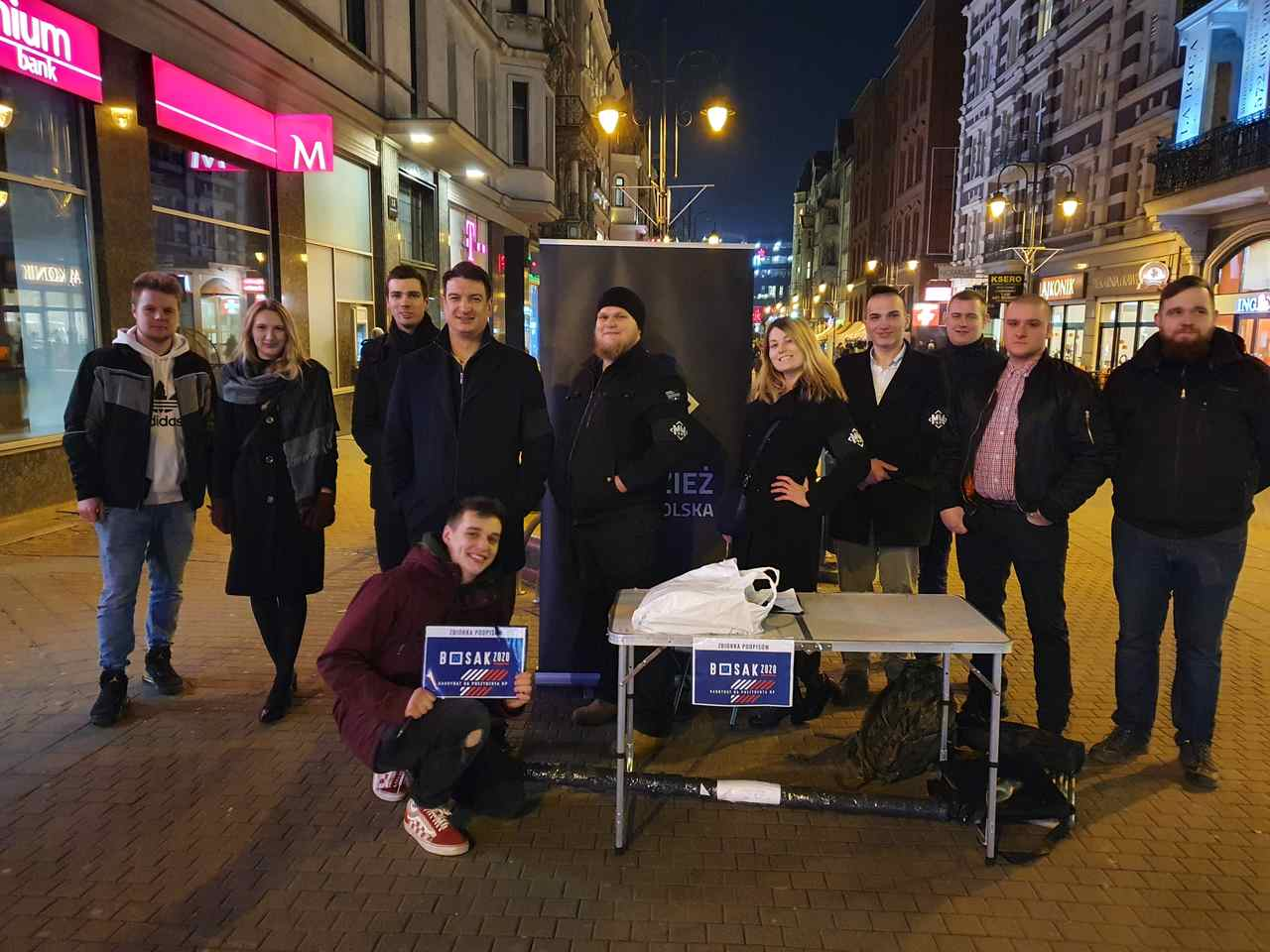 Wszechpolacy w Katowicach pomagali w zbiórce dla Krzysztofa Bosaka