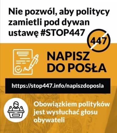 Nie pozwól, aby zamietli pod dywan #STOP447. Bąkiewicz apeluje: Napisz do posła [WIDEO]