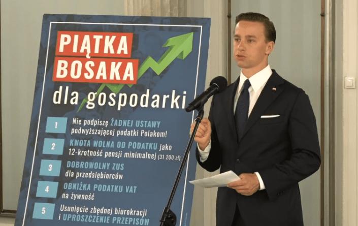 Eksperci banku ING bardzo pozytywnie oceniają program ekonomiczny Krzysztofa Bosaka