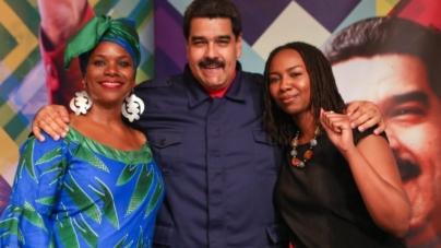 Egzotyczny sojusz! Założycielka BLM pozuje z Nicholasem Maduro