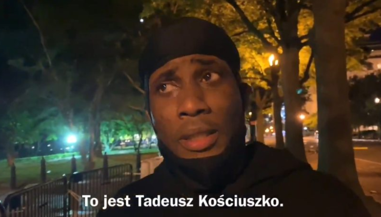 Polski dziennikarz zapytał Amerykanów, dlaczego zdewastowano pomnik Kościuszki. Odpowiedzi były zaskakujące [WIDEO]