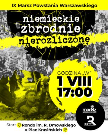Zaproszenie: Marsz Powstania Warszawskiego 2020