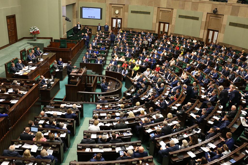 Sala plenarna Sejmu RP.