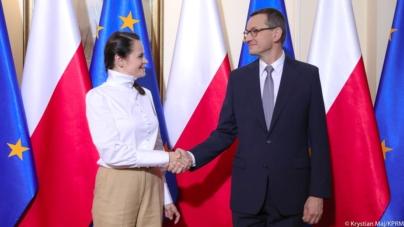 Cichanouska i Morawiecki wspólnie o wartościach demokracji