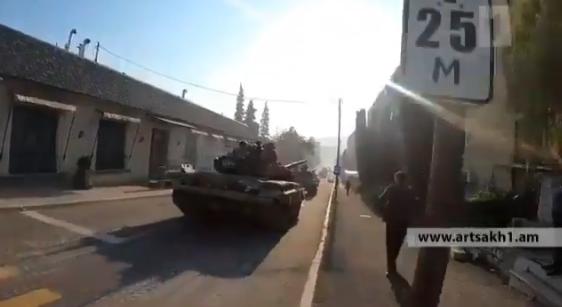 Azerskie siły zestrzeliły rosyjski śmigłowiec? Nagranie z miejsca katastrofy