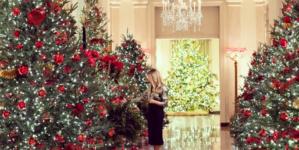 Biały Dom dzięki Melanii Trump zachwyca świątecznym wystrojem