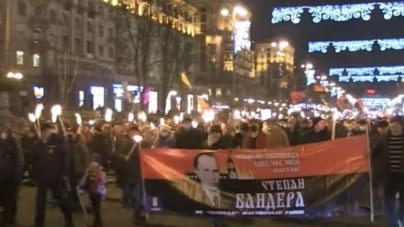"""Ukraińcy świętowali 112. urodziny zbrodniarza. """"Czyja Ukraina? Bandery!"""""""