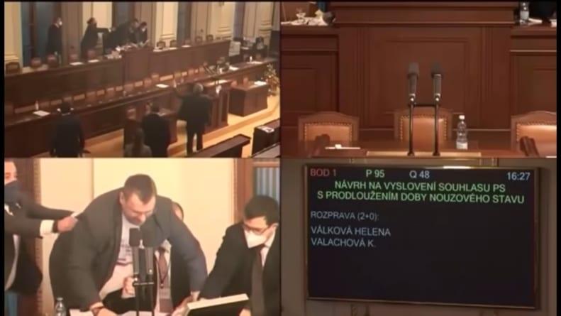 Bijatyka w czeskim parlamencie. Poszło o wyłączony mikrofon