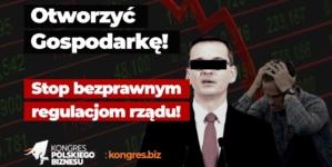 Kongres Polskiego Biznesu wesprze przedsiębiorców, którzy wznowią działalność