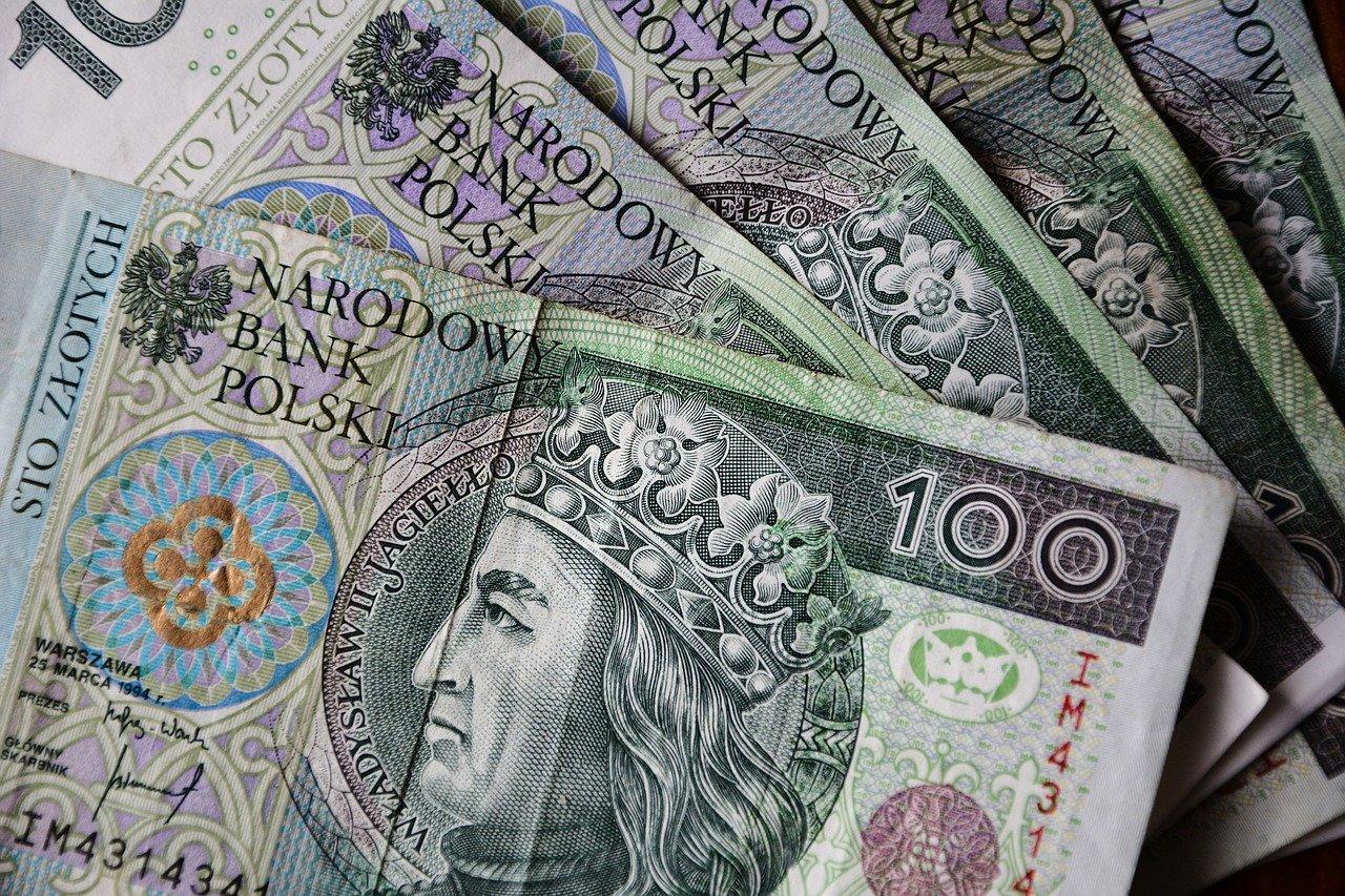 Banknoty - polski złoty.