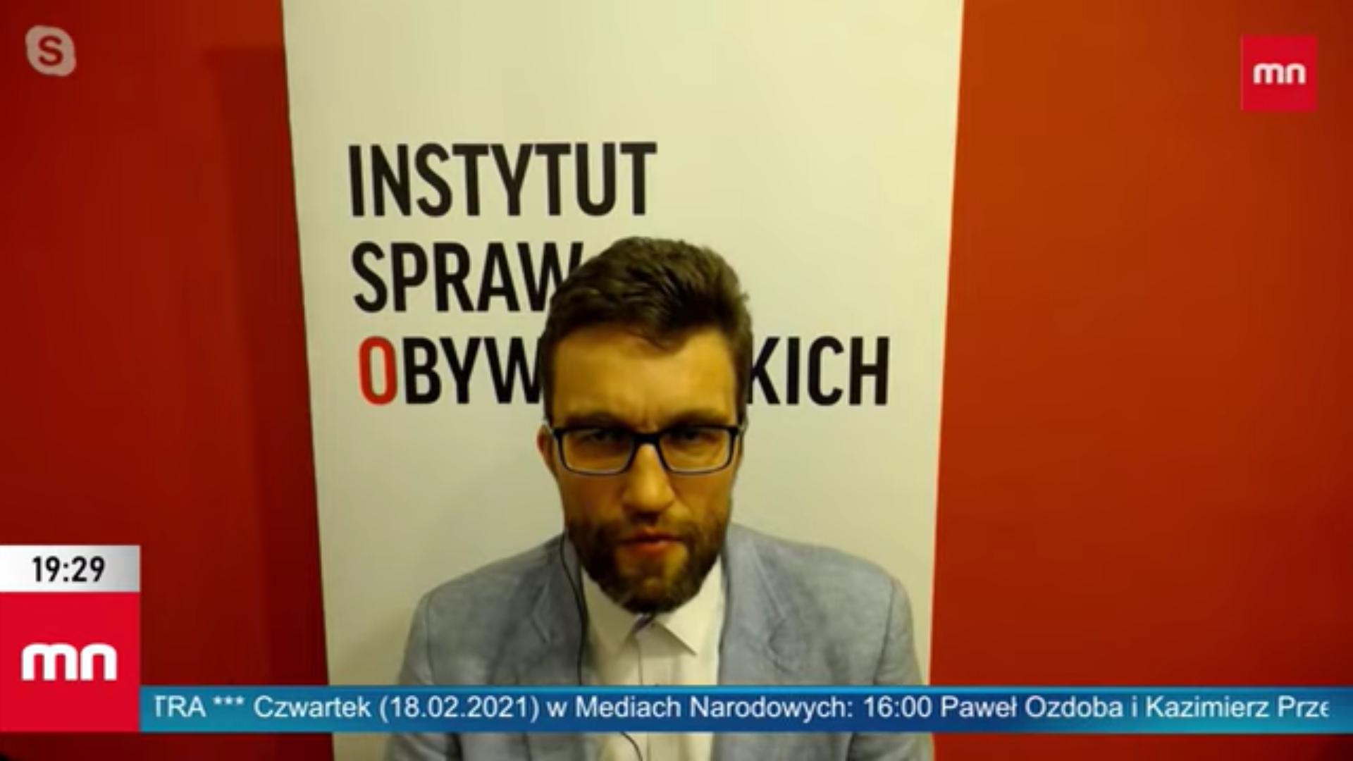 Rafał Górski, prezes Instytutu Spraw Obywatelskich.