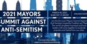 Światowy szczyt burmistrzów. Przywódcy będą walczyć z antysemityzmem