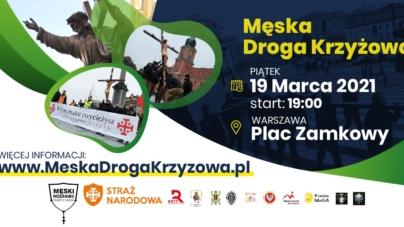 Męska Droga Krzyżowa w piątek w Warszawie