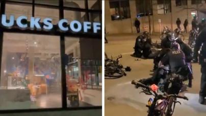 Antifa i BLM niszczą Seattle. Powodem rocznica śmierci czarnoskórej