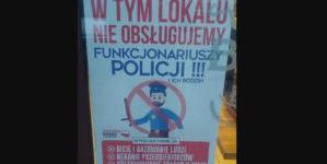 """Przedsiębiorca ma dość: """"W tym lokalu nie obsługujemy policji!"""" Funkcjonariusze niezadowoleni"""