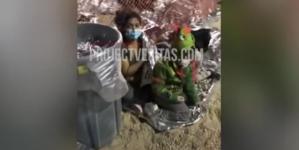 Los imigrantów Bidena. Tłumy śpią na ziemi pod mostem [WIDEO]