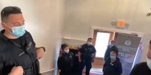 Kanada: Wściekły polski pastor przepędził policję. Poszło o covidowe restrykcje [WIDEO]