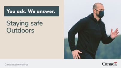 W Kanadzie bez zmian. Doktor ds. Zdrowia Publicznego zaleca noszenie masek podczas biegania na świeżym powietrzu