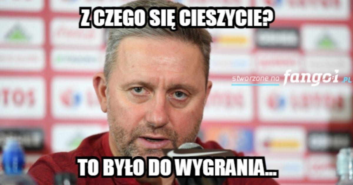 Mem z Jerzym Brzęczkiem.