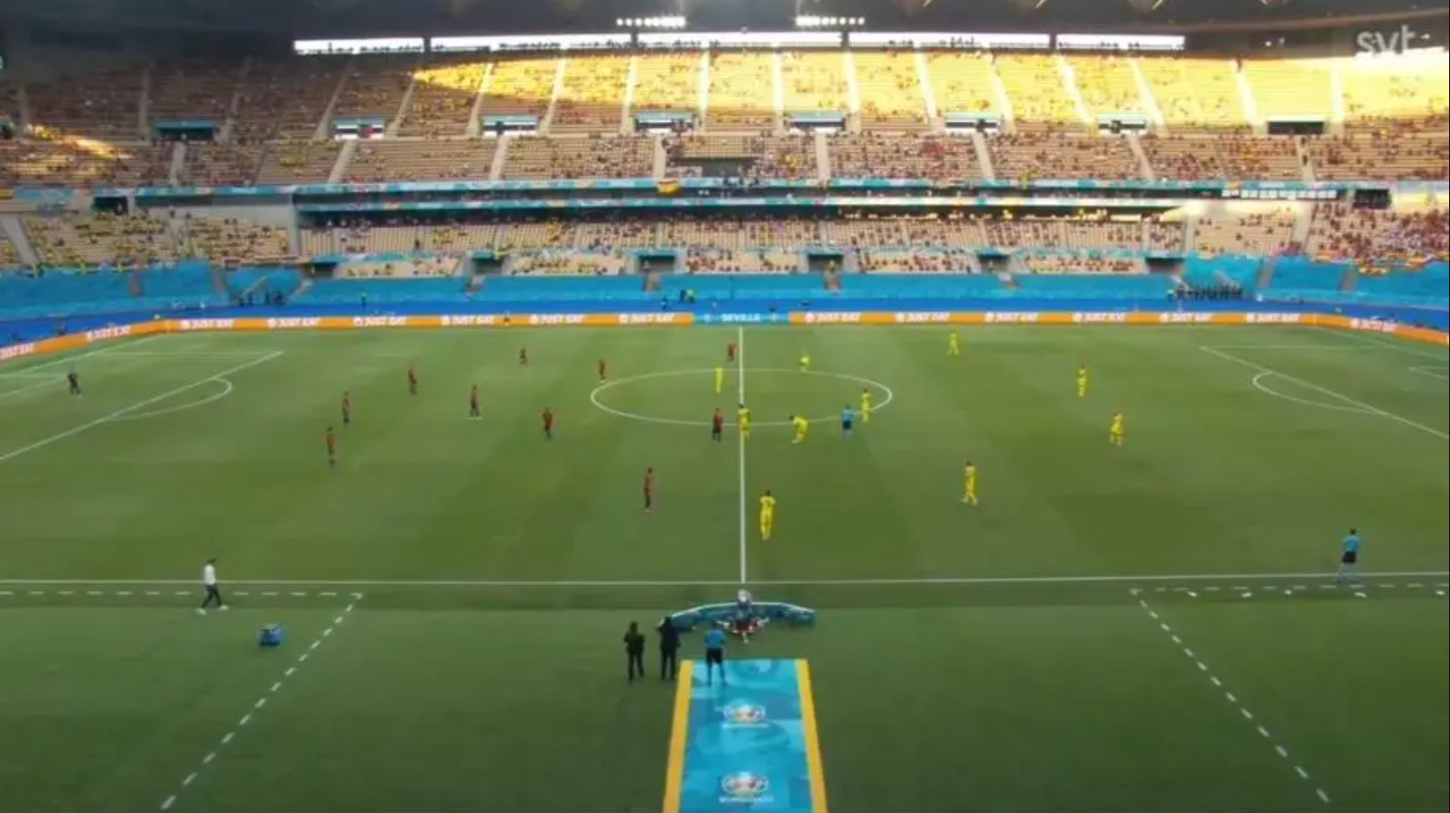 Mecz podczas Mistrzostw Europy