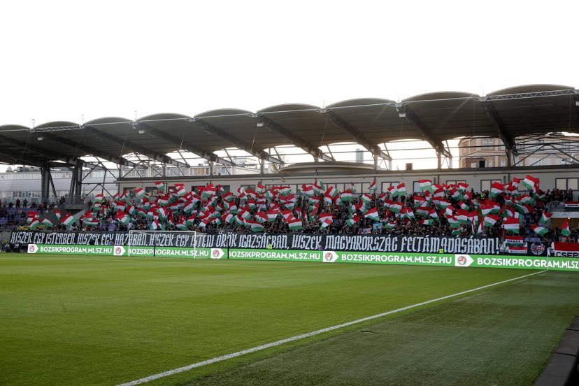 Kibice węgierscy na meczu z Cyprem  /Fot. Facebook