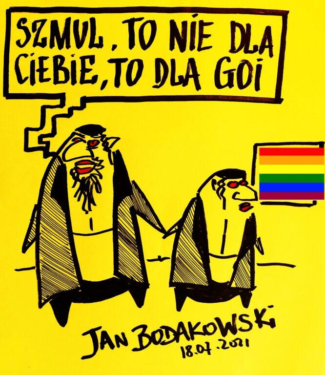 Żydzi. LGBT - rysunek Jan Bodakowski