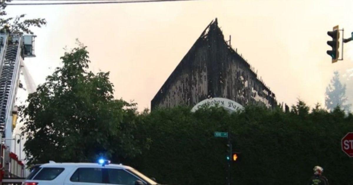 Spalony kościół koptyjski w Kanadzie.