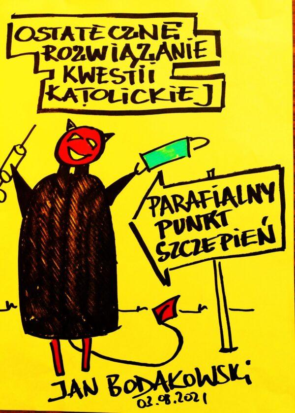 szczepienia rysunek Jan Bodakowski
