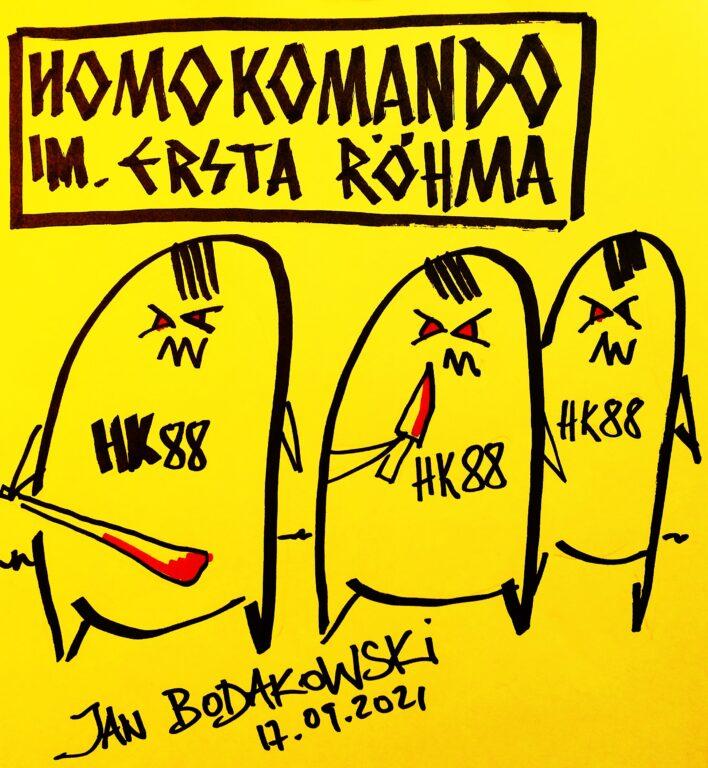 homokomando im Ernsta Rohma rysunek Jan Bodakowski