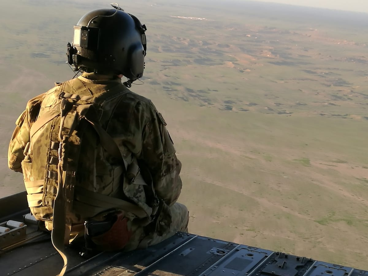 żołnierz na pustyni