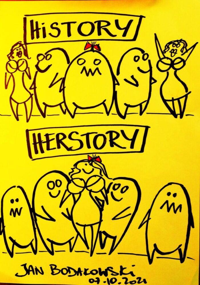 history herstory rysunek Jan Bodakowski