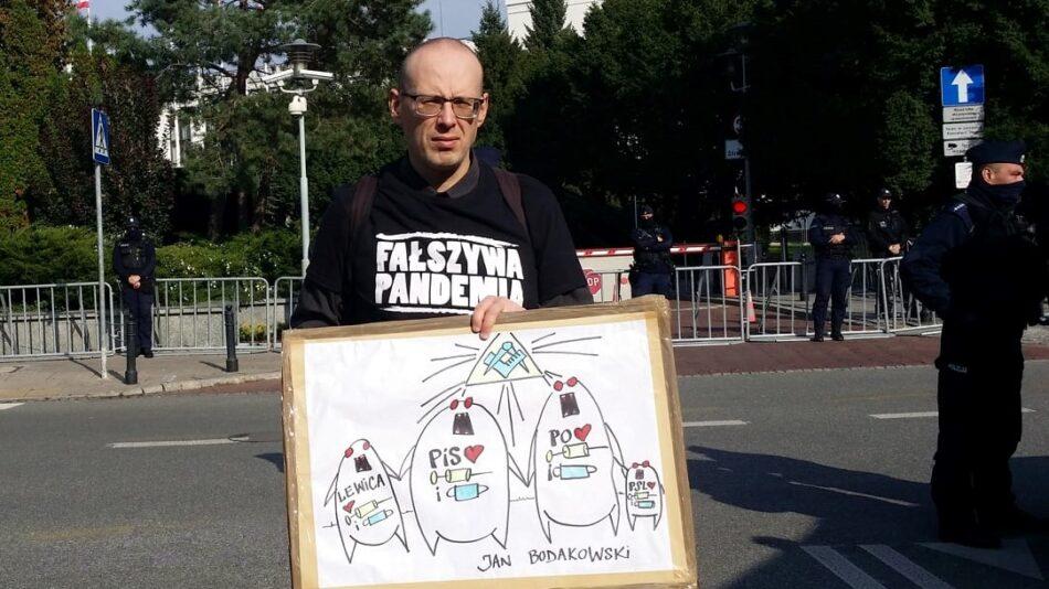 covid demonstracja Jan Bodakowski