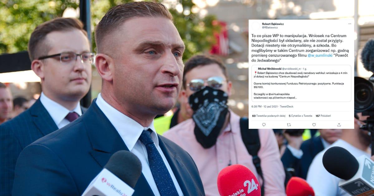 Bąkiewicz odpowiada WP