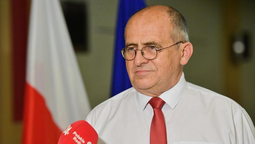 Minister spraw zagranicznych Zbigniew Rau podczas briefingu prasowego w hotelu Cornelia Diamond,, Antalya, Turcja, 17.06.2021.